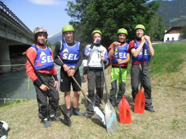 Die Junioren des ASV Sterzing Volksbank qualifizieren sich für die Rafting EM in der Slowakei