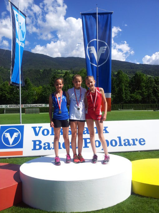 Zweimal Silber und dreimal Bronze bei den Landesmeisterschaften der SchülerInnen A und B in Brixen