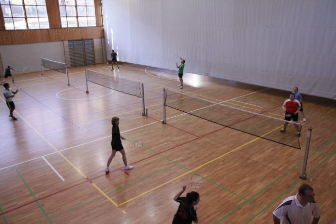 November 2015: Badminton Turnier in der Dreifachturnhalle von Sterzing