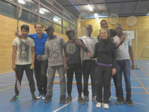 Asylbewerber zu Gast bei der Sektion Badminton