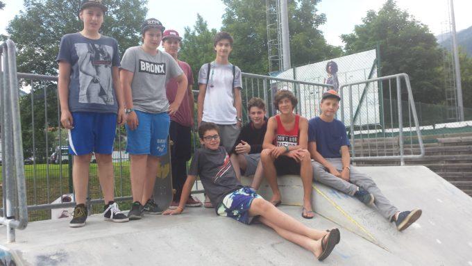 Die neue Skatergruppe in Sterzing