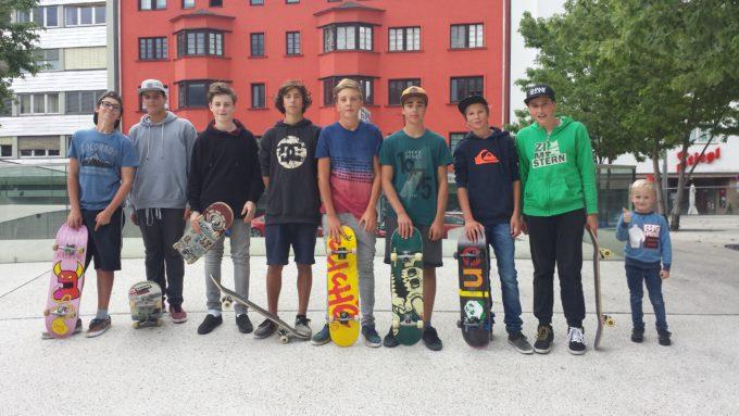 Aktivität der Skatergruppe im Sommer 2016