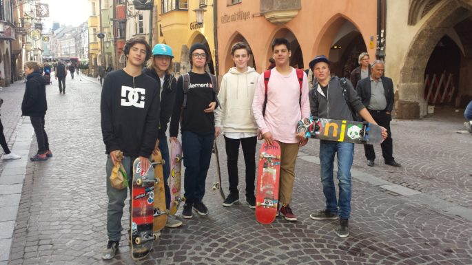 Skater Ausflug nach Innsbruck November 2016