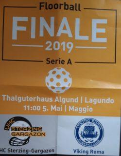 Das Finale der Italienmeisterschaft auf dem Großfeld in Algund: trotz guter Leistung verlor der UHC Sterzing-Gargazon gegen Viking Roma mit 6:11